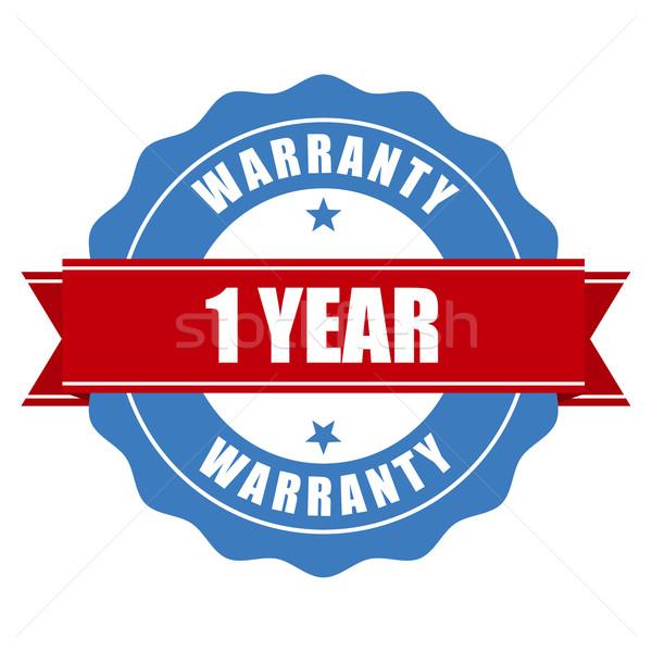 Ein Jahr Garantie Siegel Stempel Stock foto © gomixer
