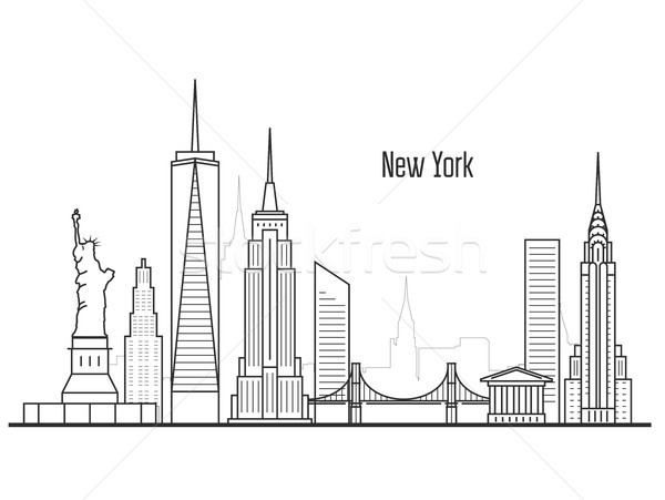 New York city skyline - Manhatten cityscape, towers and landmark Stock photo © gomixer