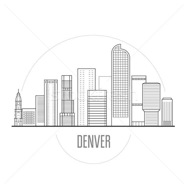 Városkép belváros városkép tornyok épület háttér Stock fotó © gomixer