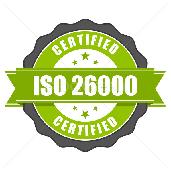 Iso norme certificat badge sociale responsabilité Photo stock © gomixer