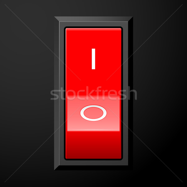 Red electric power switch - pedal type Stock photo © gomixer