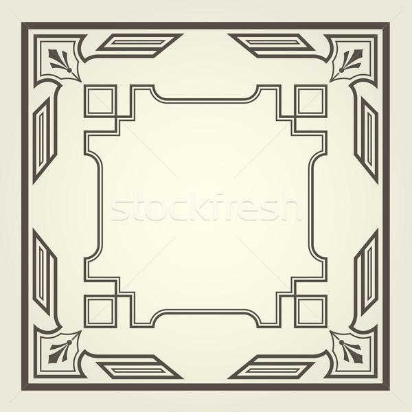 Art deco stijl vierkante frame lijnen Stockfoto © gomixer