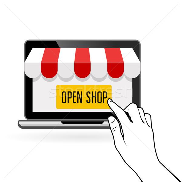 открытых онлайн магазин запуска электронной коммерции бизнеса Сток-фото © gomixer