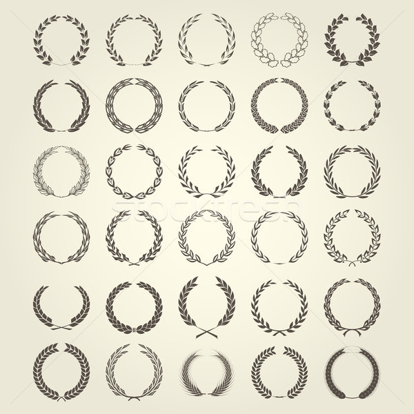 Laurel Wreaths collection in different style Stock photo © gomixer
