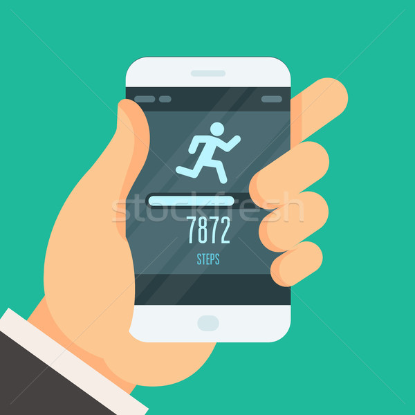 Fitness tracker app  - step counter to lose weight Stock photo © gomixer