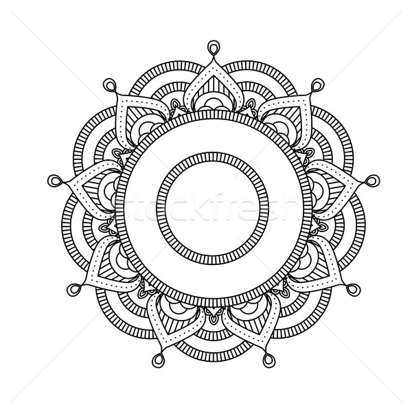 Indian mandala - flower style round moroccan pattern Stock photo © gomixer
