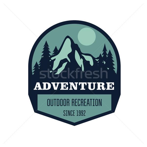 Yürüyüş dağcılık açık etkinlik etiket kaya Stok fotoğraf © gomixer