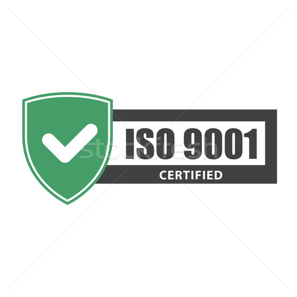 ISO 9001 certificate plate - website emblem of ISO standard  Stock photo © gomixer