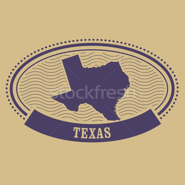 Oval sello Texas mapa viaje Foto stock © gomixer
