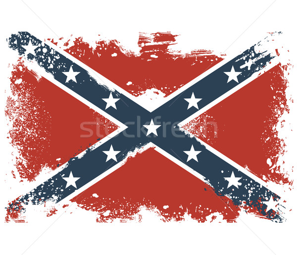 Threadbare flags of the Confederate States of America Stock photo © gomixer