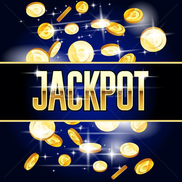 Jackpot monete casino vincere successo Foto d'archivio © gomixer