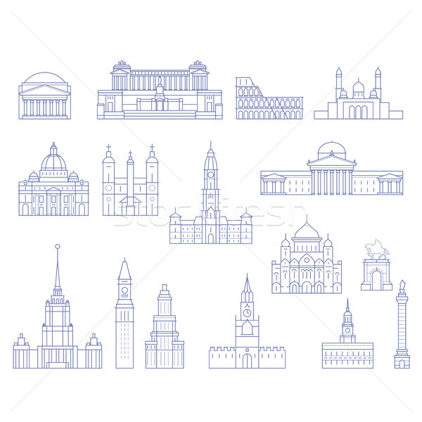 European architecture - buildings, cathedrals and monuments in l Stock photo © gomixer