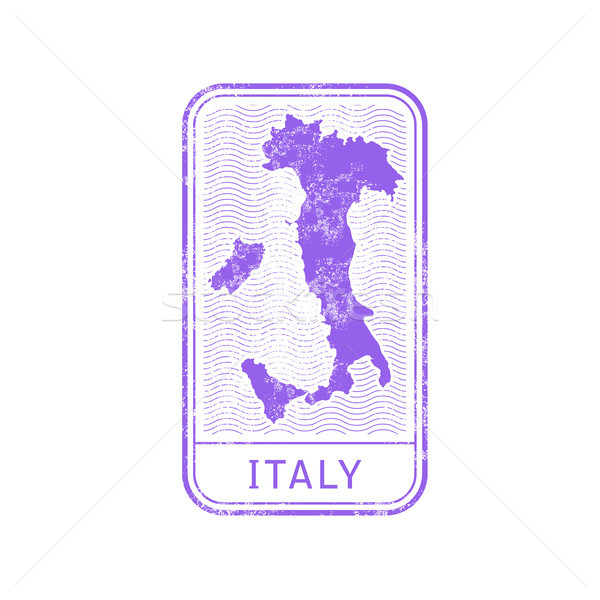 Travel stamp - Italy journey, map outline Stock photo © gomixer