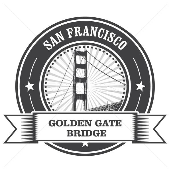 San Francisco símbolo Golden Gate Bridge carimbo ponte portão Foto stock © gomixer