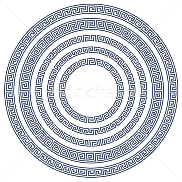 Round frame with greek pattern Stock photo © gomixer