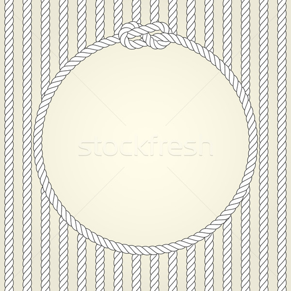 Round rope frame in naval theme Stock photo © gomixer