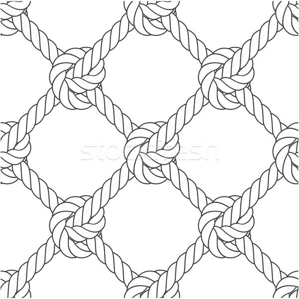 Diyagonal halat çerçeve model Stok fotoğraf © gomixer