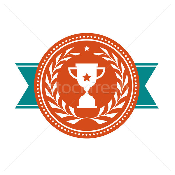 Achievement badge - award medal with sport cup  Stock photo © gomixer
