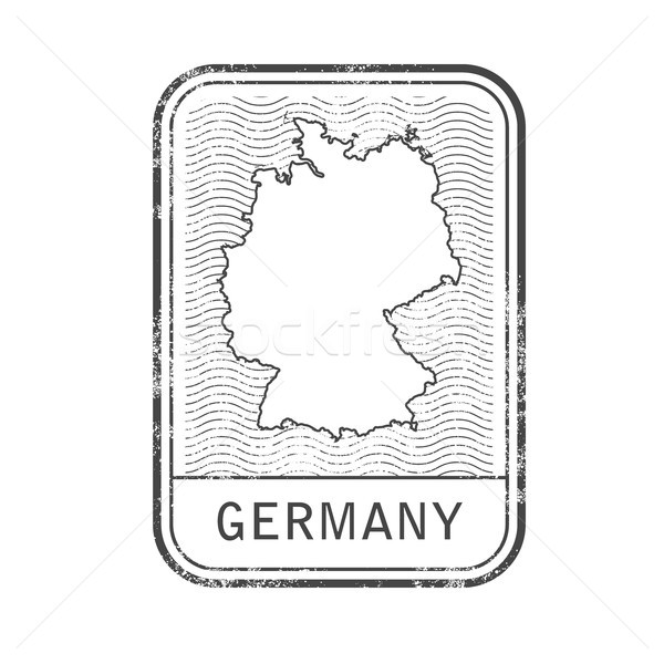 Stamp with contour of map of Germany - contour of Germany Stock photo © gomixer