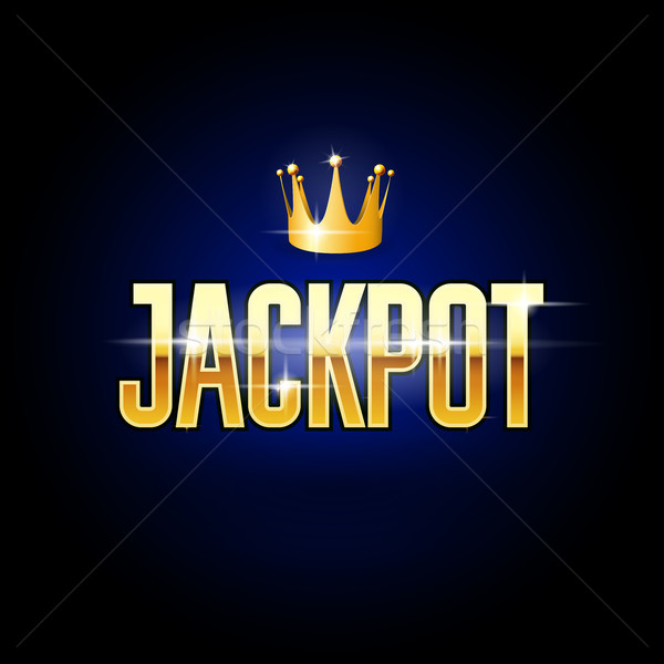 Złoty tytuł pula korony kasyno hazardu Zdjęcia stock © gomixer