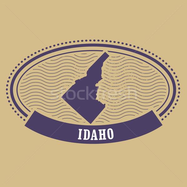 Idaho mapa silhueta oval carimbo viajar Foto stock © gomixer