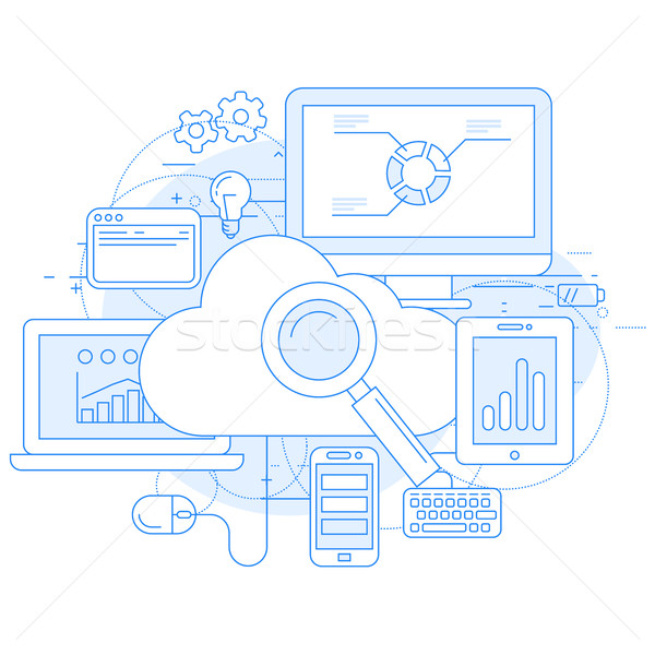 Cloud computing service and internet abstract design Stock photo © gomixer