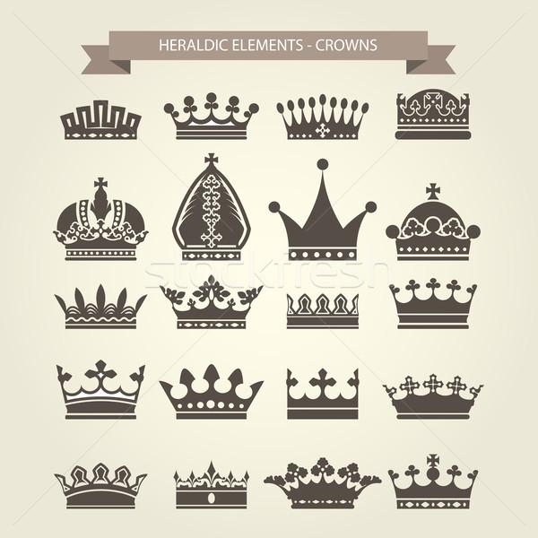 королевский силуэта корона Hat Сток-фото © gomixer