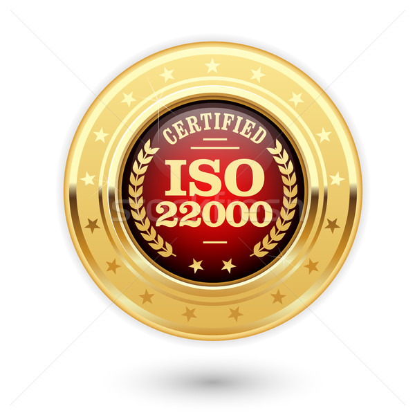 ISO 22000 certified medal - Food safety management Stock photo © gomixer