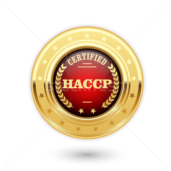HACCP certified medal - Hazard Analysis and Critical Control Poi Stock photo © gomixer