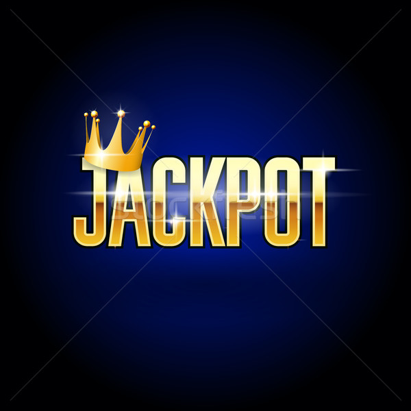 Jackpot header with crown - casino and win background Stock photo © gomixer