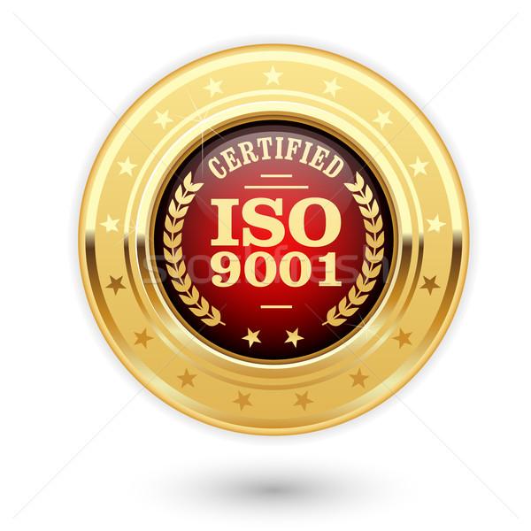 Iso certificado medalha qualidade gestão Foto stock © gomixer