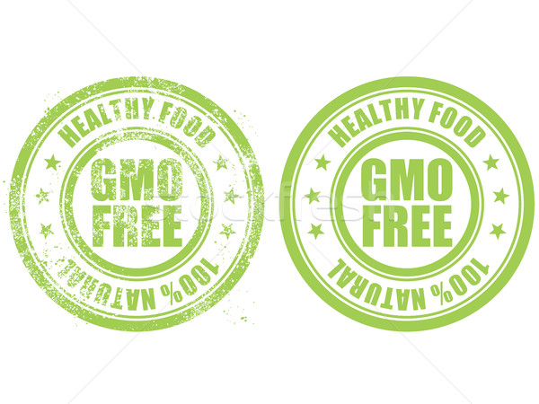 Grunge rubber stamp with inscription GMO free natural bio food Stock photo © gomixer