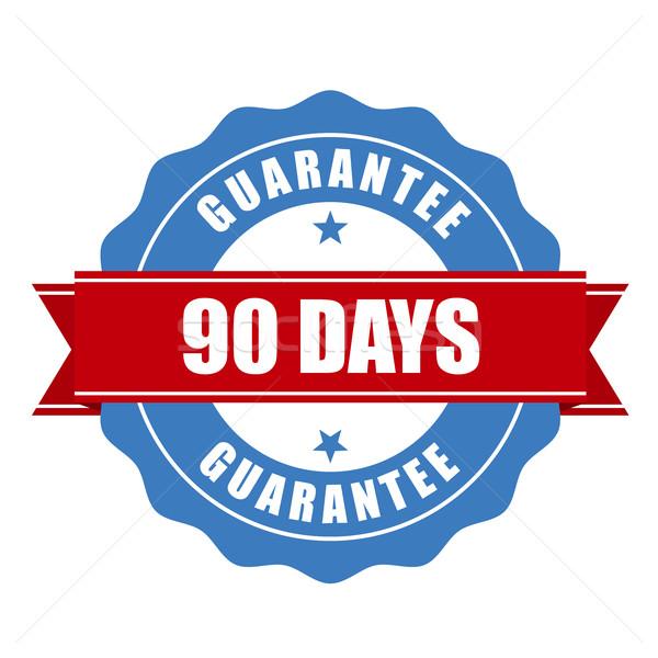 Gwarantować pieczęć gwarancja podpisania Zdjęcia stock © gomixer