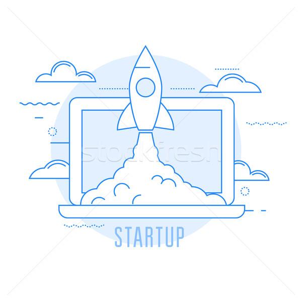 Launching sturtup - rocket launch of new business  Stock photo © gomixer