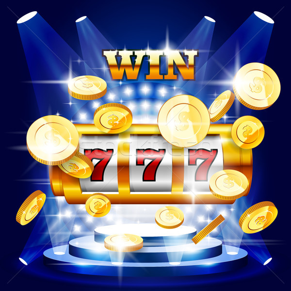 Big win or jackpot - slot machine and coins, casino concert Stock photo © gomixer