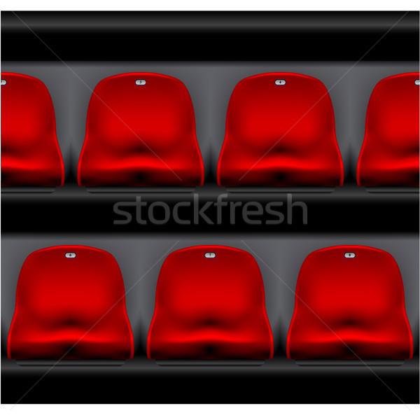 Csetepaté stadion sport aréna piros műanyag Stock fotó © gomixer