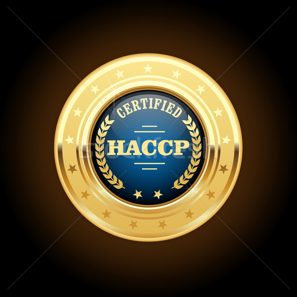 HACCP certified gold medal - Hazard Analysis and Critical Contro Stock photo © gomixer