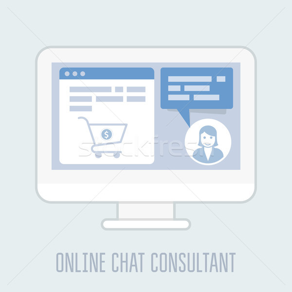 Online chat website hulp internet Stockfoto © gomixer