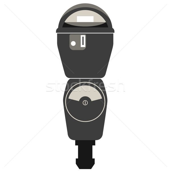 Silhouette of retro american parking meter Stock photo © gomixer