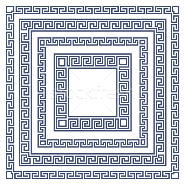 Square frame with greek ornament, meander style pattern  Stock photo © gomixer