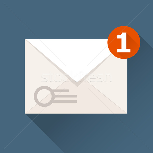 New incoming message (notification) icon - envelope Stock photo © gomixer