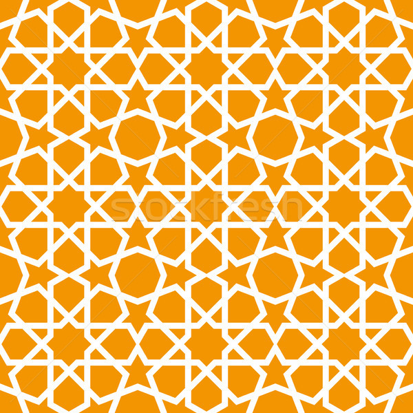 Seamless ornamental pattern in arabic style background - Persian Stock photo © gomixer