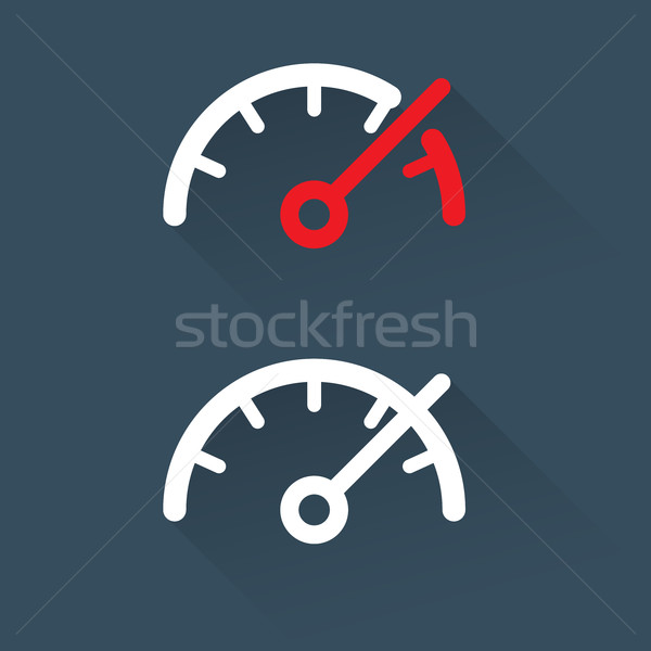 Speedometer (gauge)  scale - simple icon Stock photo © gomixer