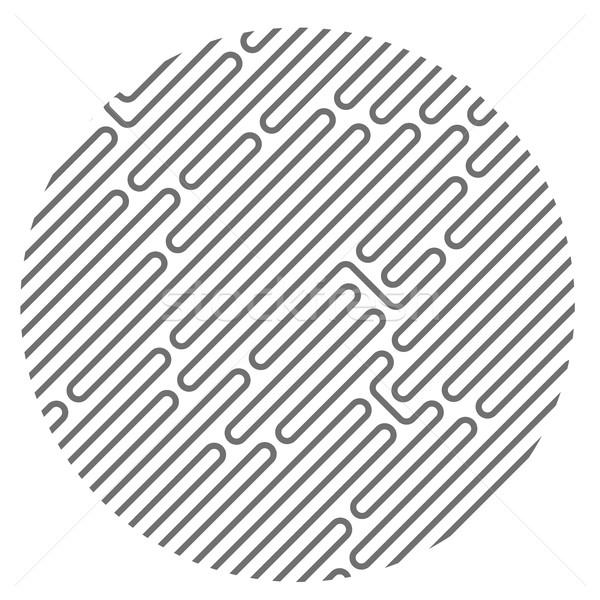 Cerchio diagonale labirinto pattern abstract tecnologia Foto d'archivio © gomixer
