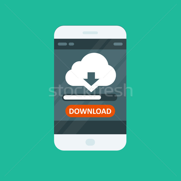Cloud computing app - download progress bar Stock photo © gomixer