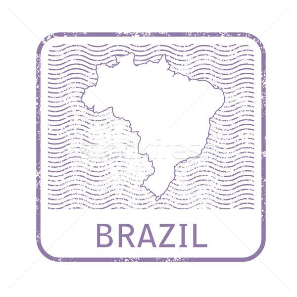 Damga harita Brezilya Stok fotoğraf © gomixer
