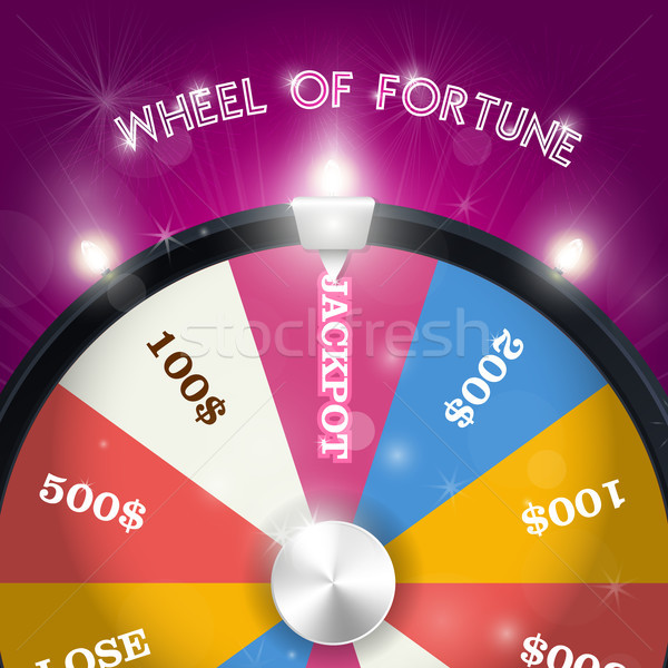 Wheel of fortune - jackpot  sector, lottery win concept Stock photo © gomixer