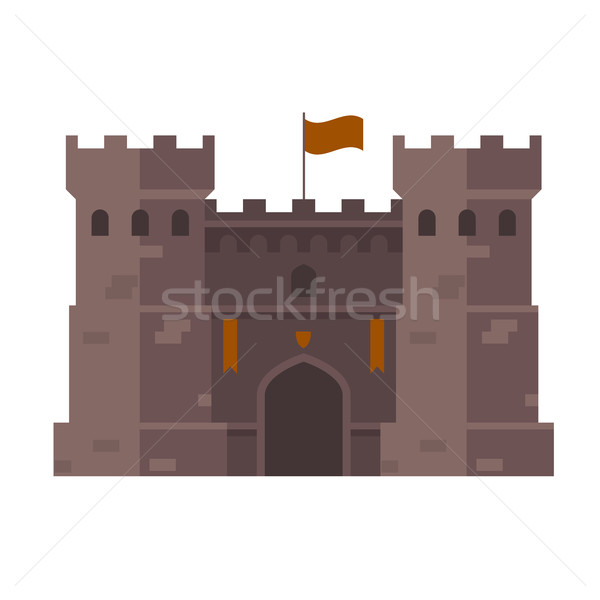 Medieval stronghold - old fortress towers Stock photo © gomixer