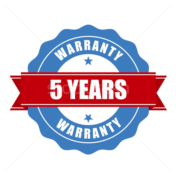 Five years warranty seal - round stamp Stock photo © gomixer