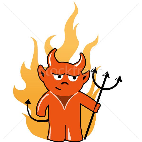 Devil with trident Stock photo © gomixer